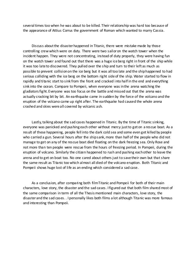 Titanic term paper cover letter samples for students in high school