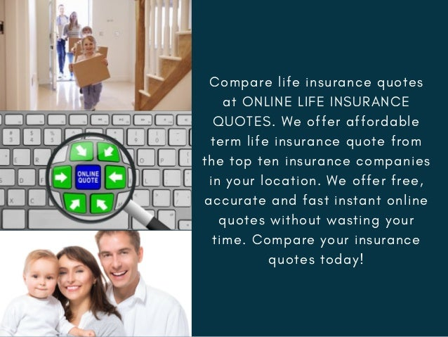 Compare Life Insurance Quotes At ONLINE ...
