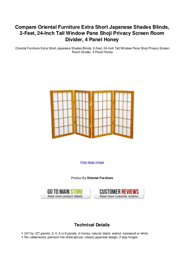 Compare oriental furniture extra short japanese shades blinds 2 feet