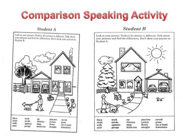 EFL / ESL Comparison Speaking Activity