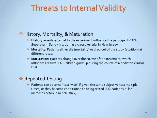 Threats to internal validity maturation