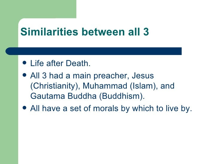 life after death in islam and christianity Some of the benefits in the belief of a hereafter, as well as a conclusion of the various reasons to believe in its existence, the factors which necessitate the belief in life after death this website is for people of various faiths who seek to understand islam and muslims.