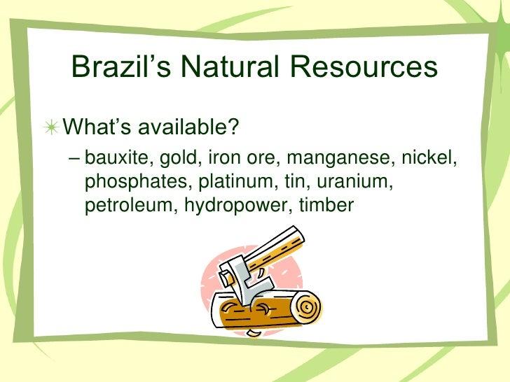 Comparing Brazil Mexico Cuba Economies - Natural resources of brazil