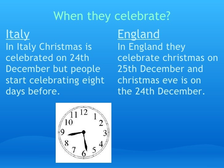 christmas in england and italy comparing christmas in england and italy by moncef and devaunte 2 when they celebrate - How Does England Celebrate Christmas