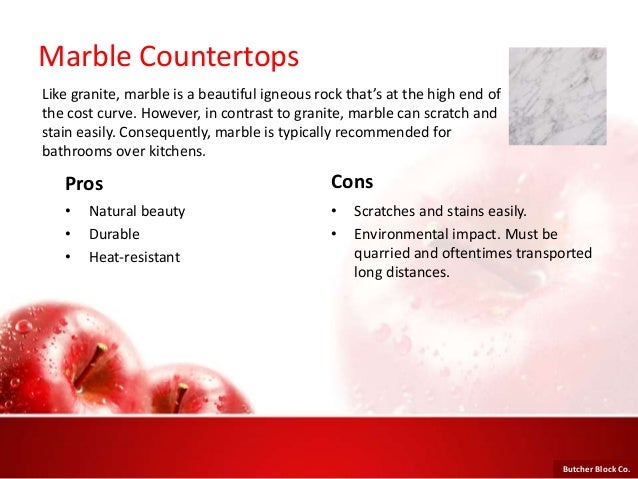 9. Marble Countertops Pros ...
