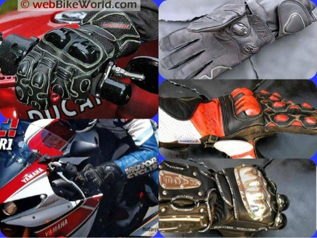 Comparing different designs of motorcycle gloves Slide 2