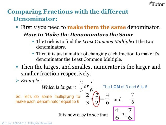 how to tell which fraction is larger