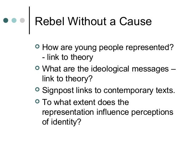 essay on rebel without a cause Each essay is designed to assist students in the preparation of their own original work students who use our service are responsible not only for writing their own essay, but also for citing everything properly in the paper and the bibliography.
