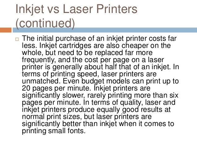 comparing inkjet and laser printers. Black Bedroom Furniture Sets. Home Design Ideas