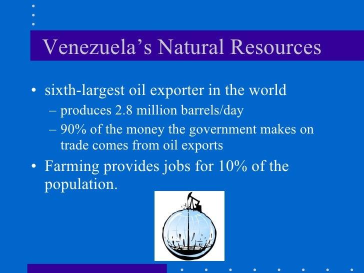 Major Natural Resources In Venezuela