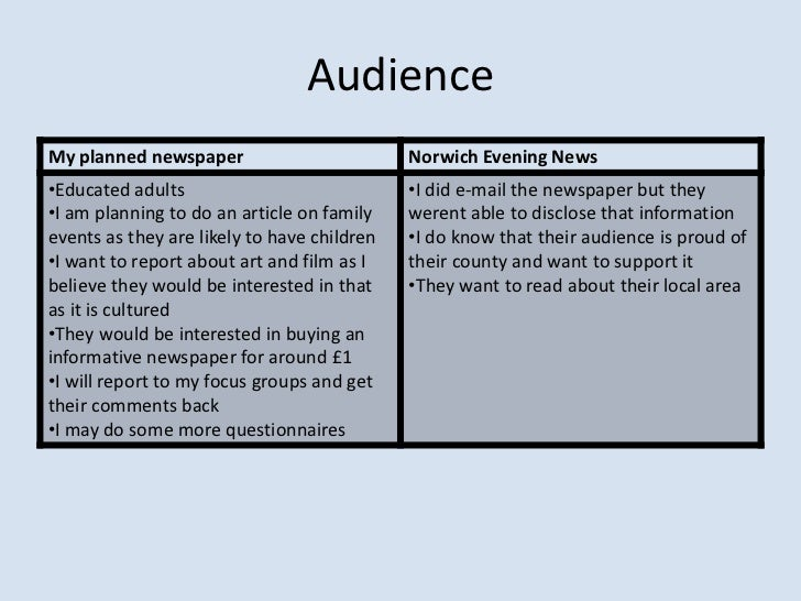 a comparison of two newspaper articles Critically discuss the differences between these articles, focusing on some of   paper is concerned with texts taken from two british national daily newspapers.