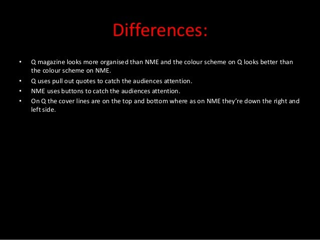 Comparing nme and q magazine