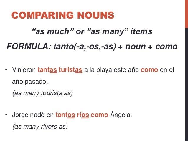 Comparing Nouns