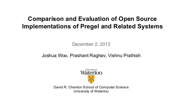 Comparison and Evaluation of Open Source  Implementations of Pregel and Related Systems  December 2, 2013  Joshua Woo, Pra...