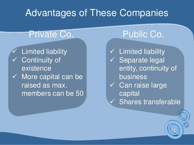advantage of limited company When forming a business, the entrepreneur is typically faced with the decision of whether to incorporate a popular method of incorporation for small businesses is to form a limited.