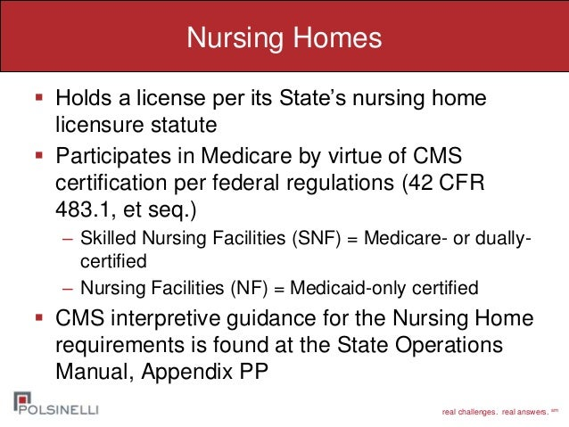 comparing regulatory enforcement of hospitals and long term care faci rh slideshare net Home Health State Operations Manual state operations manual for nursing homes pdf