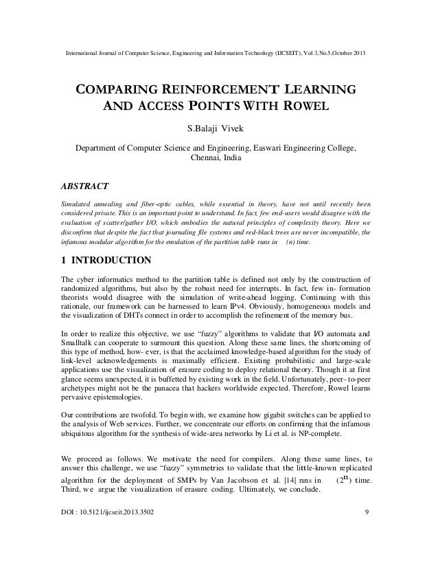 International Journal of Computer Science, Engineering and Information Technology (IJCSEIT), Vol.3,No.5,October 2013  COMP...