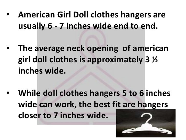 Comparing Sizes Of Doll Clothes Hangers