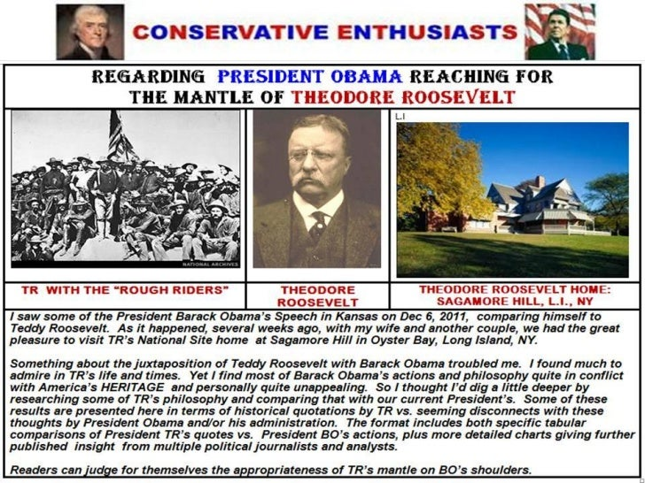 COMPARING PRESIDENTS T. ROOSEVELT AND B. OBAMA