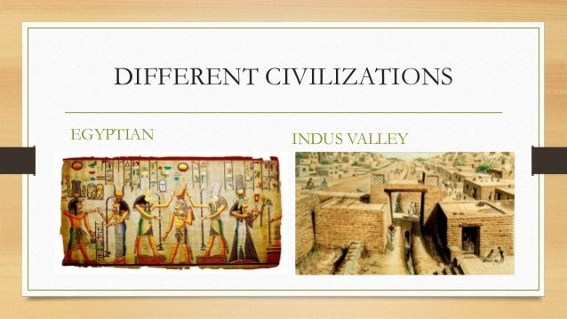 difference between indus valley civilization and nile valley civilization
