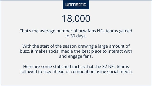 Comparison of NFL teams like Dallas Cowboys and Chicago Bears on Social Media Slide 2