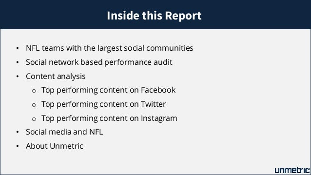 Comparison of NFL teams like Dallas Cowboys and Chicago Bears on Social Media Slide 3