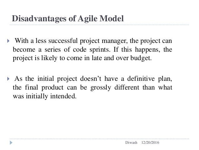 Comparision between waterfall model and agile model for Waterfall methodology advantages and disadvantages