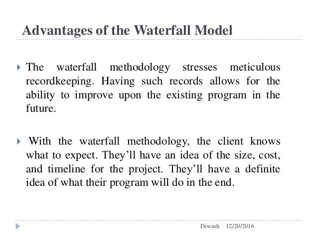 Comparision between waterfall model and agile model for Advantages and disadvantages of waterfall model