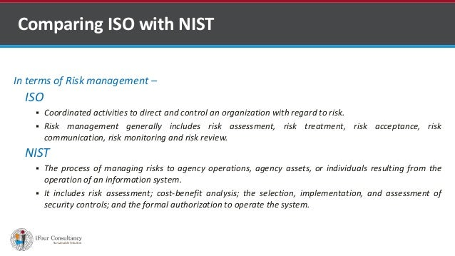 In terms of Risk management – ISO  Coordinated activities to direct and control an organization with regard to risk.  Ri...