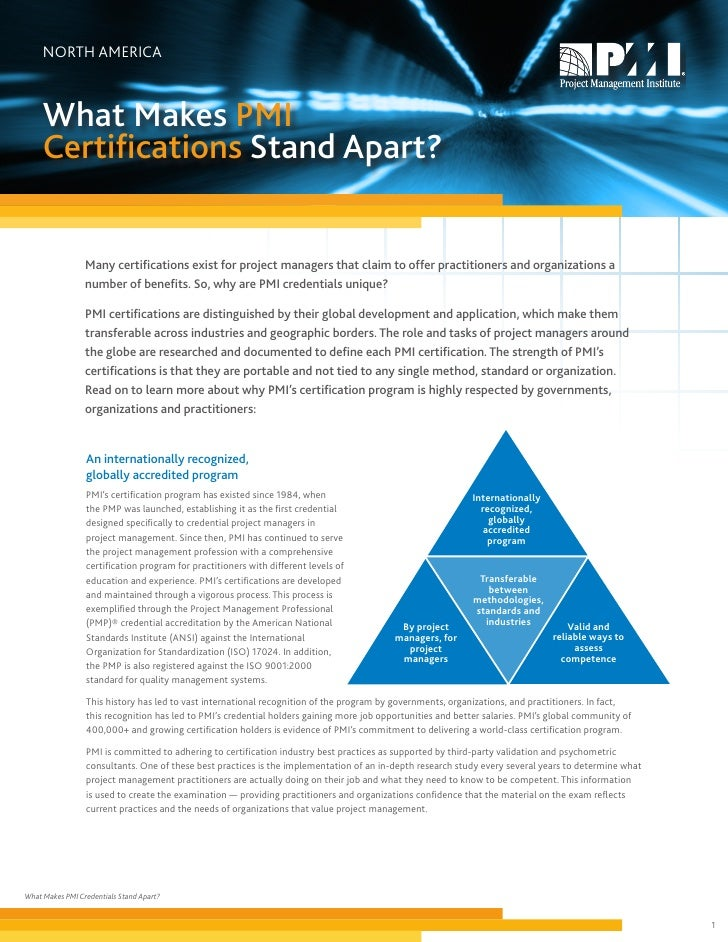 Comparision Of Pmi Certifications
