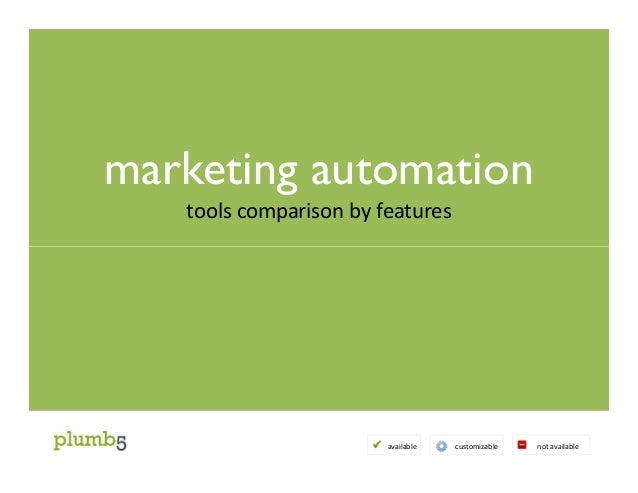 marketing automation tools comparison by features available customizable not available