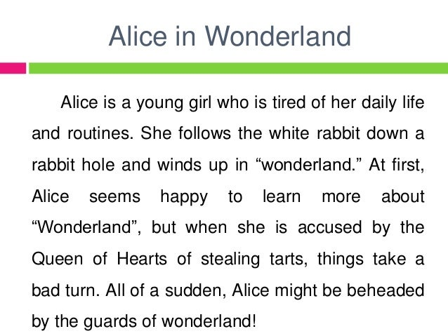 alice and coraline This is my reading assignment about the comparison between coraline and alice in the wonderland i took some material from several resources from website if y.