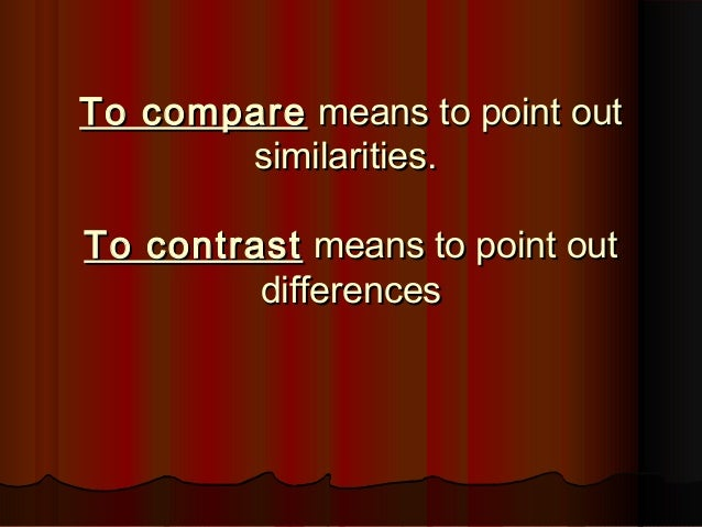 compare and contrast essay between two jobs