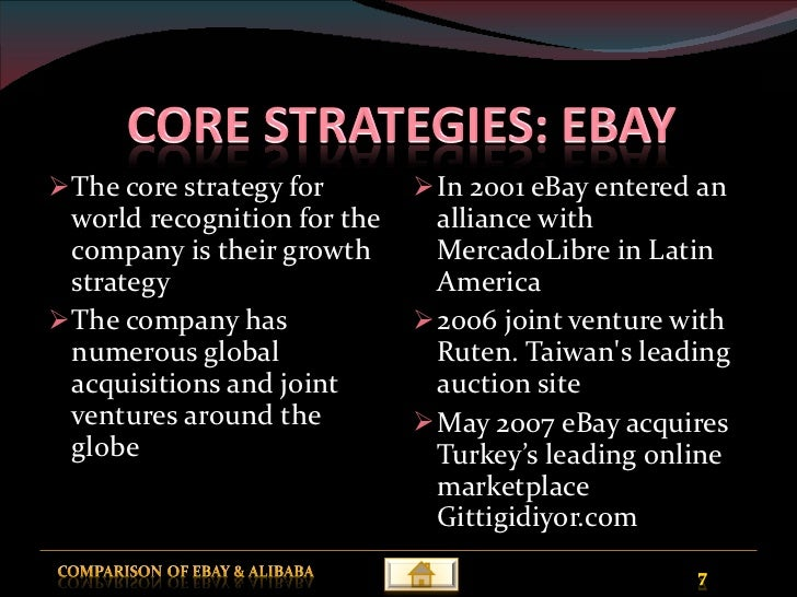 ebays strategy in china alliance or acquisition essay Looking for the newest ebay swot analysis for no further growth strategy ebay hasn't unveiled any plans on increase services portfolio through acquisition.