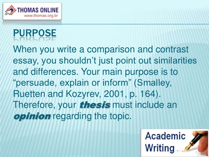 organizational patterns of a comparison or contrast essay Identifying patterns of organization you have learned that writers make and support points in paragraphs and longer pieces of writing such as essays, articles, and textbook chapters may compare and contrast high school and college.