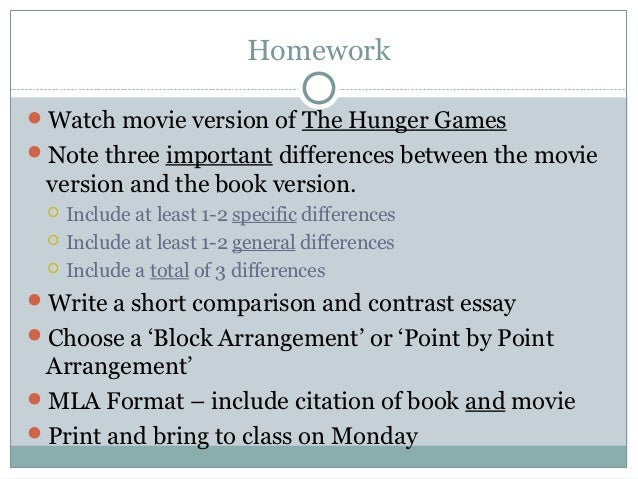 How To Write A Movie Book Comparison Essay Rubric Rubric Gallery