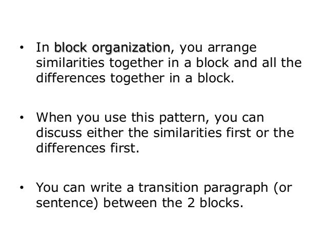block compare and contrast essay examples slideshare