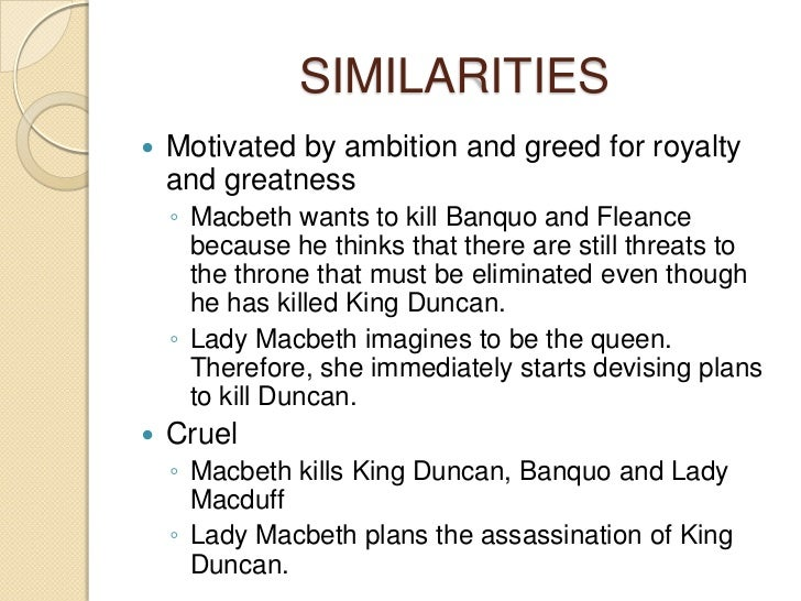 comparison and contrast of macbeth and lady macbeth