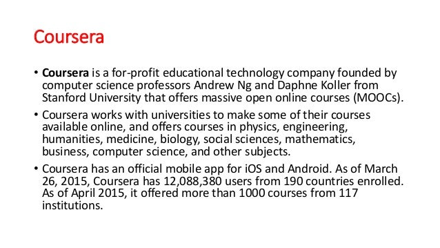 Comparison between coursera and edx