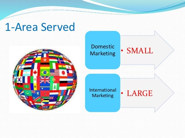 domestic marketing and international marketing 2international marketing - authorstream presentation  international involvement domestic marketing limited exporting international marketing globalized marketing.