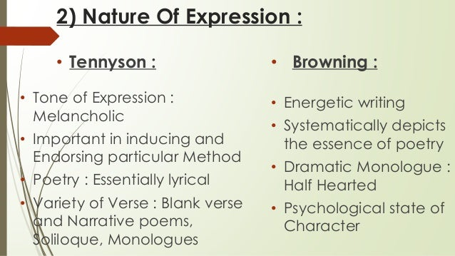tennyson writing style