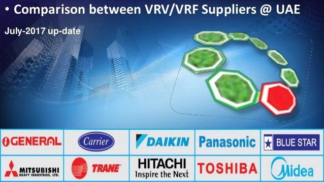 Comparison between vrv vrf brands &