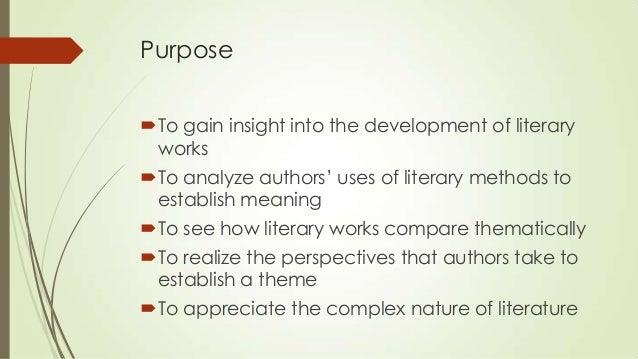 Purpose of literary writing