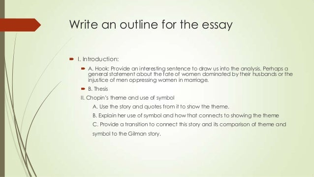 literary comparison essay outline Organize your essay around ideas relating to your critical quality of literature you have chosen literary analysis essay: outline.