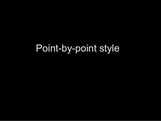 comparison contrast essay point by point style