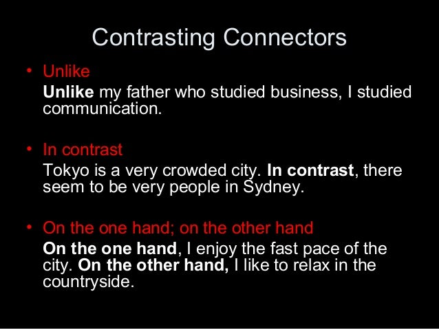 connector in an essay Connector usage in the english essay writing of japanese efl learners masumi narita1, chieko sato2 and masatoshi sugiura1 1 graduate school of international development 2 multimedia division nagoya university nihon ir inc furo-cho, chikusa-ku katsura bldg 3-61.