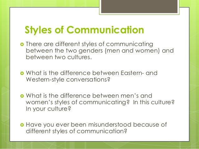 Communication Styles Essay
