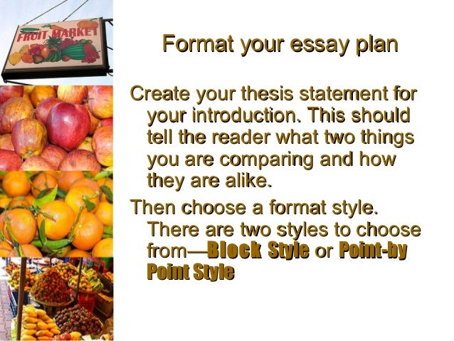 comparison contrast essay  grovesclimate in groves 5 format your essay