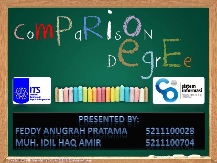 The Degrees of Comparison in Englishgrammar are made with the Adjective andAdverb words to show how: big or small high o...
