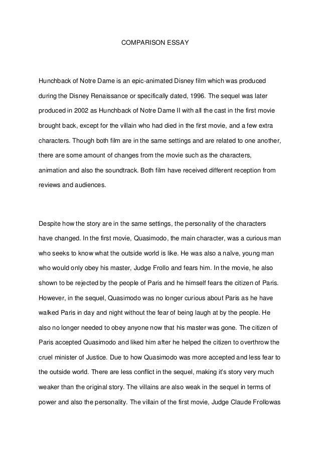 comparison essay conflict